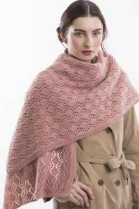 Belvedere Lace Shawl is designed by Yoko Hatta